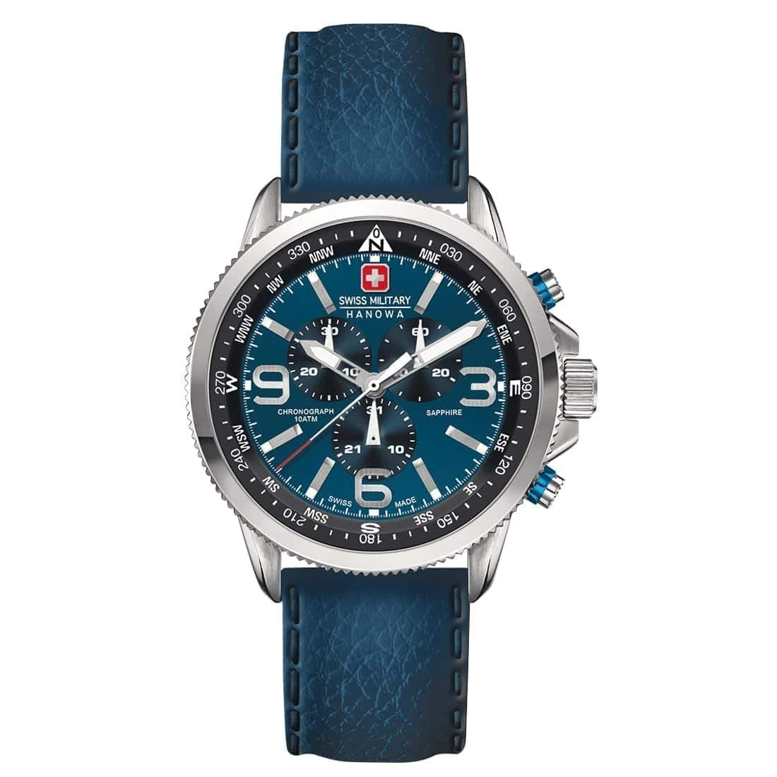 Hanowa swiss military wristwatch arrow blue swiss made direct for Watches direct