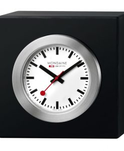 Mondaine Desk_Clock_Black