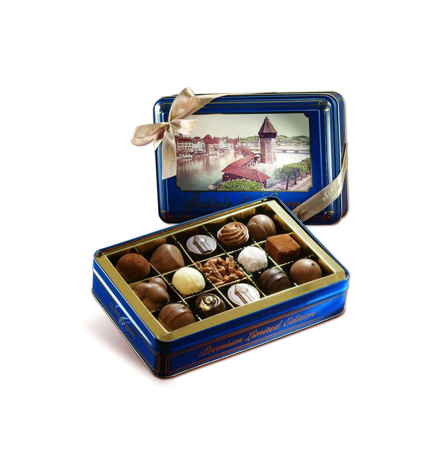 LUCERNE BOX WITH TRUFFLES & PRALINES 180g