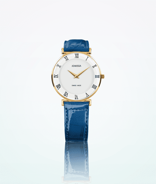 Jowissa-Roma-Gold-Blue-Wome-Wristwatch