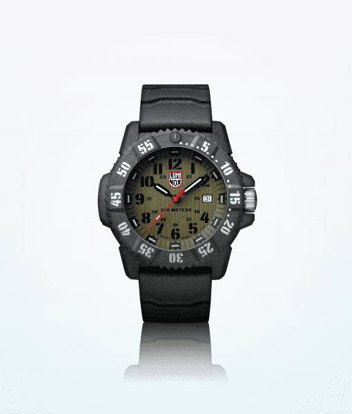 luminox-majstor-ugljik-3800-serije-men-ručni sat-crno-zelena