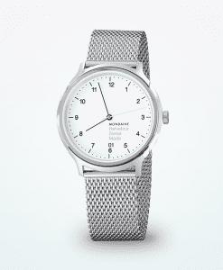 mondaine-helvetica-no1-reguläre-Männer-Armbanduhr-Silber