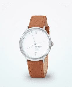 mondaine-helvetica-no1-regular-unisex-reloj de pulsera-marrón