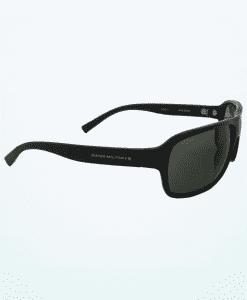 スポーティなエレガントなサングラス - 光沢のある黒