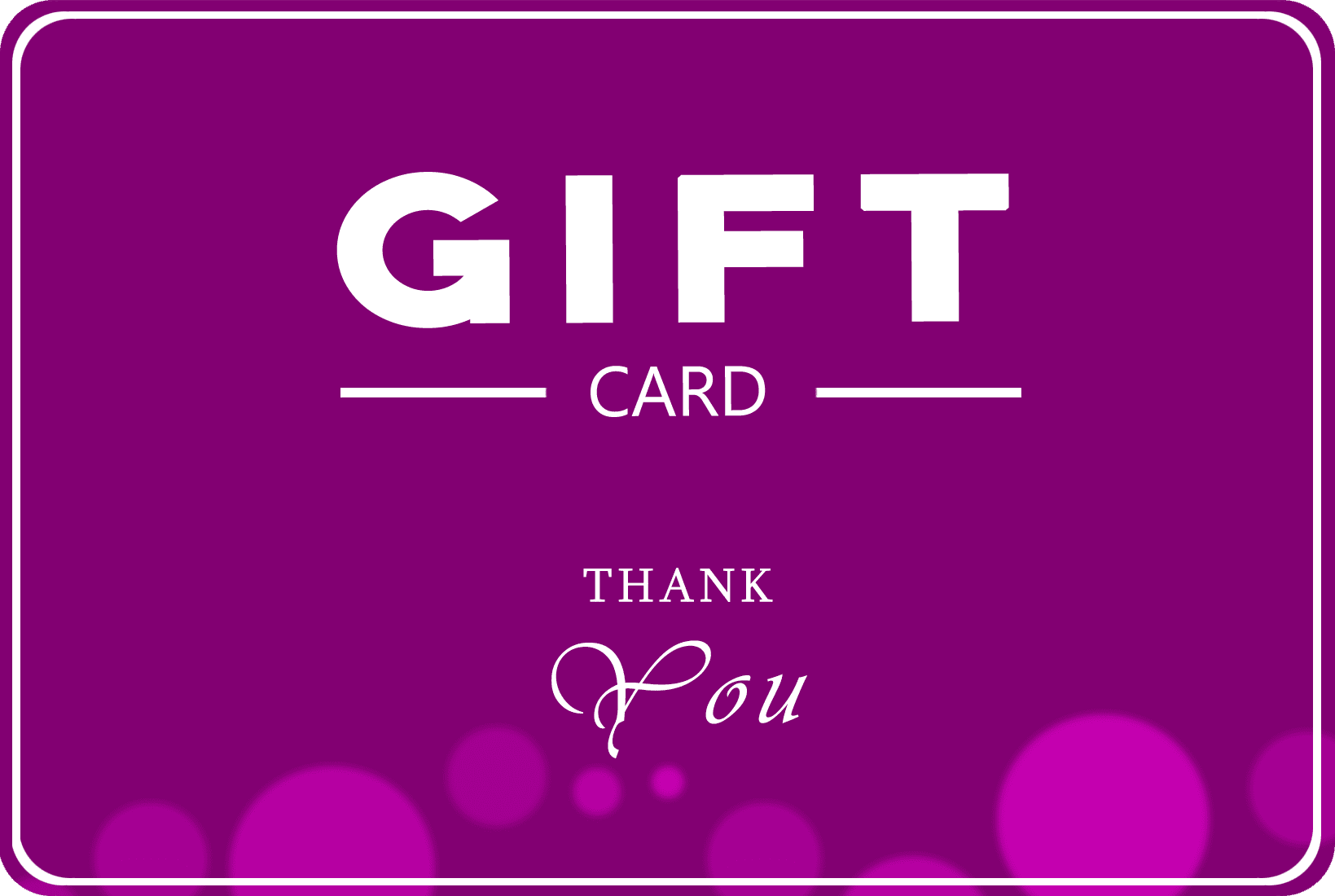 """Swissmade.direct giftcard """"Thank you"""""""